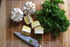 Hvidløg, citron og persille