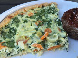 Tærte med ricotta og spinat