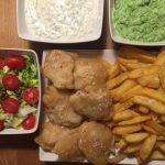 Fish'n chips med ærtemos og sauce tartare (inspireret af Valdemarsro)