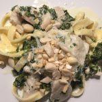 Kylling med pasta og grønkål