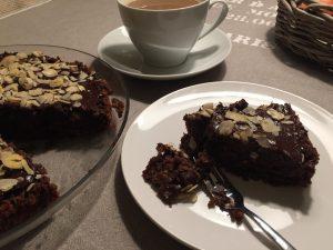Glutenfri chokolade- og hasselnøddekage