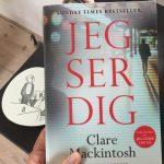 """Boganbefaling af """"Jeg ser dig"""" af Clare Mackintosh"""